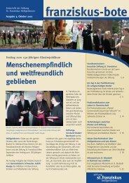 franziskusbote 3-07_ok - Stiftung St. Franziskus Heiligenbronn