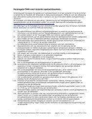 Huisregels FWN voor externe opdrachtnemers