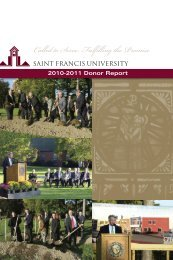 Called to Serve…Fulfilling the Promise - Saint Francis University