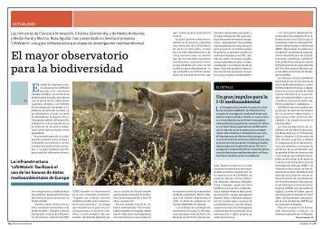 El mayor observatorio para la biodiversidad
