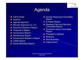 Members - Ontario Long Term Care Association