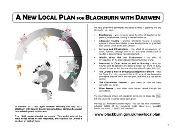 summary of Generic issues - Blackburn with Darwen Borough Council