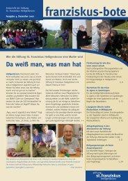 franziskusbote 4-07_ok - Stiftung St. Franziskus Heiligenbronn