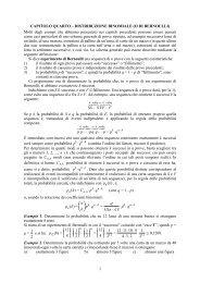 1 CAPITOLO QUARTO – DISTRIBUZIONE BINOMIALE (O ... - Filosofia
