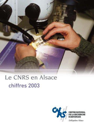 Le CNRS en Alsace - CNRS - Délégation Alsace