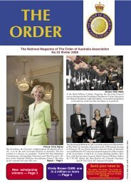 Send your news to - Order of Australia Association