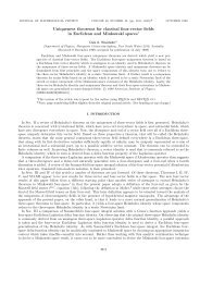 Uniqueness theorems for classical four-vector fields in Euclidean ...
