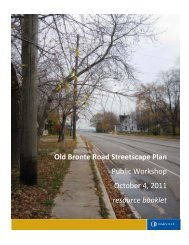 Old Bronte Road Streetscape Plan Public Workshop ... - Oakville