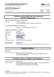 EU-SICHERHEITSDATENBLATT ALP IFCC, Reagenz 2 - diatools AG