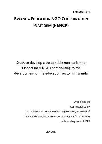 Education NGO study report - Rwanda Education NGO Coordination ...