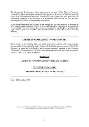 aberdeen globalspectrum funds plc - Aberdeen Asset Management