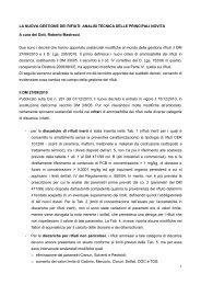 LA NUOVA GESTIONE DEI RIFIUTI - IndustrieAmbiente.it