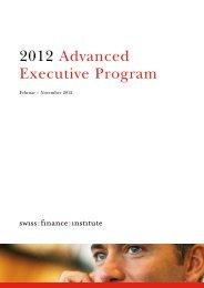 2012 Advanced Executive Program - Swiss Finance Institute
