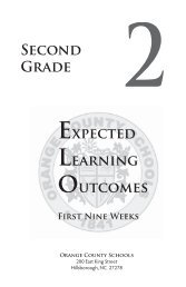 Second Grade Expected Learning Outcomes - Orange County Schools