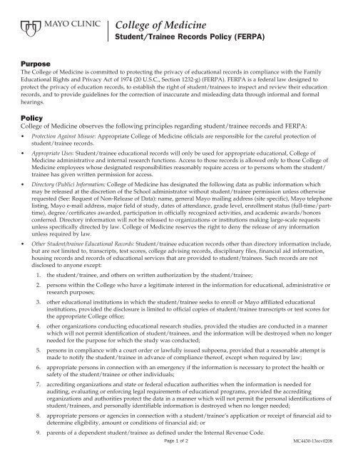 ferpa form texas state university  MCCM Student Records Policy (FERPA) - MC12-12
