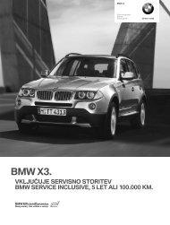 Prenos podatkov Trenutne cene za BMW X3 (PDF, 250k).