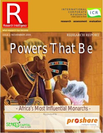 Africa's Most Influential Monarchs - Proshare