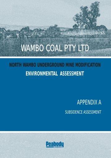 Appendix A - Subsidence Assessment - Peabody Energy