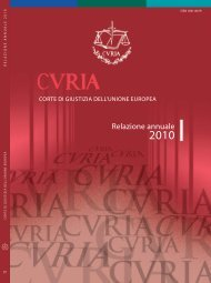 Relazione annuale - curia - Europa