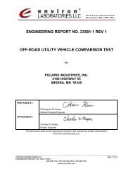 engineering report no. 33581-1 rev 1 off-road utility vehicle