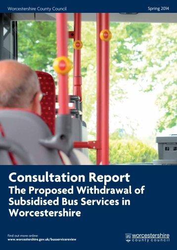 BSR Consultation Report - FINAL DRAFT