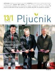 Pljučnik - številka 1. Letnik 2013 (.pdf) - Bolnišnica Golnik