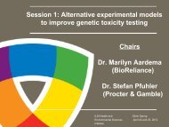 Alternative experimental models to improve genetic toxicity testing