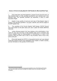 Annex 4 - New Zealand China Free Trade Agreement