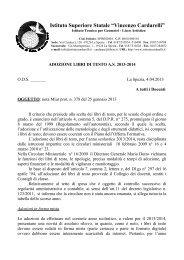 Circolare adozioni libri di testo 2013 - Istitutocardarelli.it