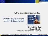 Dr. Christian Ege - Saarland - Ministerium für Wirtschaft