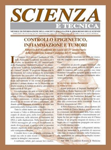 sCIENZA E TECNICA on line - Società Italiana per il Progresso delle ...