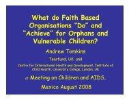 """What do Faith Based Organisations """"Do"""" and """"Achieve"""" for Orphans ..."""