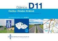 Dálnice D11 1105-2 Osičky-Hradec Králové - Ředitelství silnic a dálnic