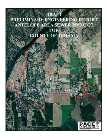Preliminary Engineering Report - Tehama County Public Works