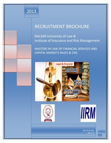 PLACEMENT BROCHURE ML(FS&CM) 2011-13.pdf - NALSAR ...