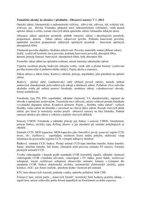 Problémové okruhy ke zkoušce a kontrolní otázky z OSE v1. 2012