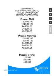 Phoenix Multi 12/2000/100 12/2500/120 24/2000 ... - Victron Energy