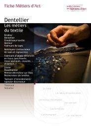 Dentellier - Institut National des Métiers d'Art