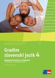 Gradim slovenski jezik 4 (posodobljena izdaja 2009) - dodatno ...