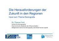 Input Thema Demografie Dr. Fent - RM Austria