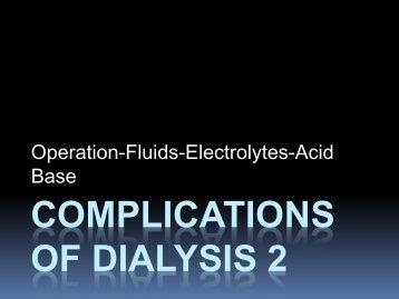 COMPLICATIONS OF DIALYSIS 2 - CRRT Online