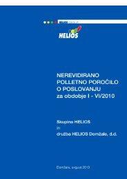 Polletno poročilo 2010 - Helios Group