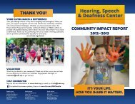 THANK YOU! - Hearing, Speech & Deafness Center