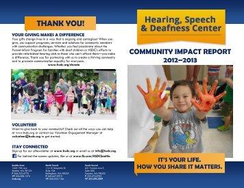 THANK YOU! - Hearing, Speech & Deafness Center