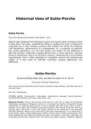 Historical Uses of Gutta-Percha - Endodonzia Dr. Mauro Venturi Home