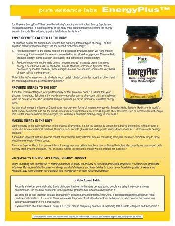 pure essence labs EnergyPlus™