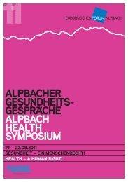 Programmfolder derAlpacher Gesundheitsgespräch 2011, pdf