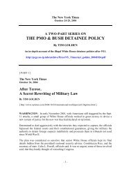 Tim Golden : The PMO & Bush Detainee Policy - Project to Enforce ...