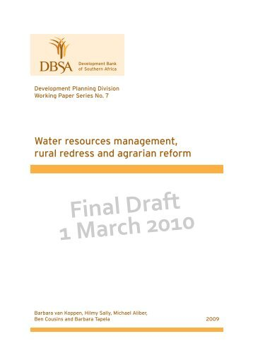 Final Draft 1 March 2010