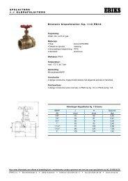 AFSLUITERS 1 . 1 KLE PA FSLUITERS Bronzen klepafsluiter ... - Eriks